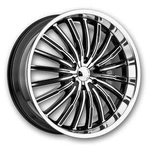 Panther Wheels 915 Spyder 22 Black Machine Low Offset