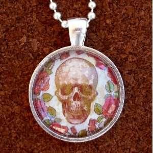 goth pendant Necklace Sugar Skull Day of the Dead Zombie tattoo biker