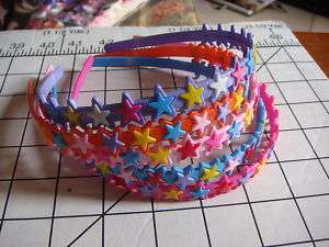 Multiple Color Stars Head band   ONE size fit all