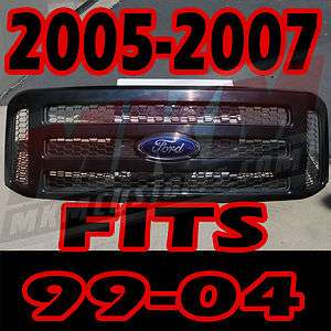2005 F250 FORD PAINTABLE GRILL CONVERSION FITS 99 2004