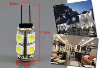 LED SMD G4 Cool White Car Light Bulb Lamp DC 12V 5050