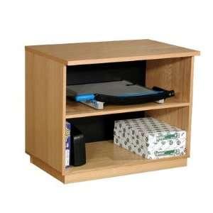 Oak Wood Veneer 29.5 Oak Panel Open Storage Cabinet