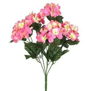 21 HYDRANGEA SILK WEDDING FLOWER BOUQUET BUSH PINK 032