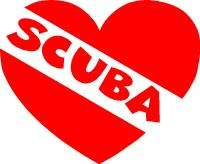 Love Scuba Diver Heart Dive Flag Sticker Decal Graphic