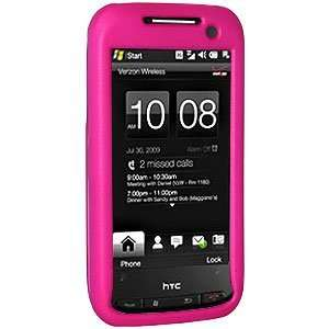 New Amzer Rubberized Hot Pink Snap On Crystal Hard Case For Sprint HTC