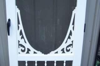 Nice White Vinyl Victorian Style Screen Door 30x79 1/2