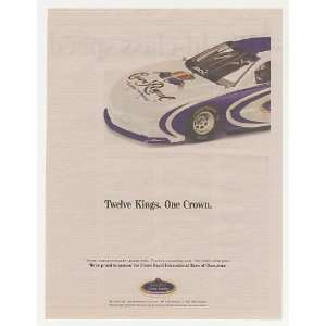 2004 Crown Royal Whisky IROC Race Car Print Ad