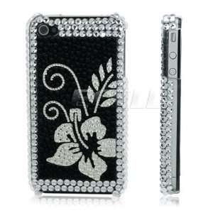 Ecell   CLEAR FLOWER 3D CRYSTAL BLING BACK CASE FOR iPHONE