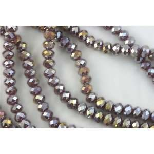Chinese Crystal Glass Beads Faceted Rondelle 8mm Grape Purple Agate AB