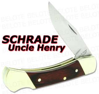 Schrade Uncle Henry Brown Bear Rosewood Lockback LB3
