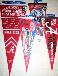 Alabama Crimson Tide FOUR (4) PENNANT SET Wincraft 2009 National