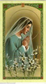 Nurses Prayer Cromo NB Laminated Holy Card From Italy