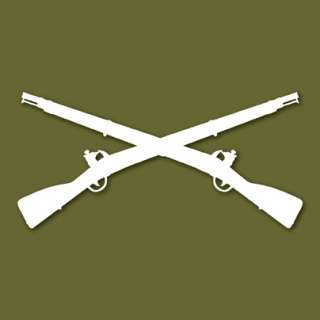 Army Infantry Crossed Rifles Vinyl Decal Sticker VLINF