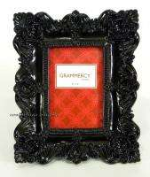 Black Baroque Goth Angel Wings & Shells Photo Frame For 4x6 Picture