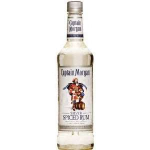 Captain Morgan Rum Silver Spiced 375ML: Grocery & Gourmet Food