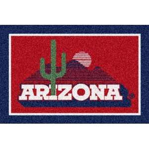 Arizona Wildcats Desert Scene 5 x 8 Team Door Mat: