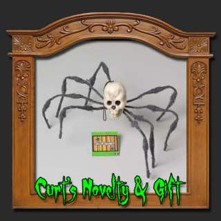 SET OF 3 SCARY SKULL SPIDERS Halloween Haunted Prop