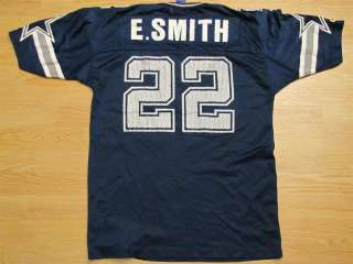 VINTAGE 90s EMMITT SMITH DALLAS COWBOYS CHAMPION NFL FOOTBALL JERSEY