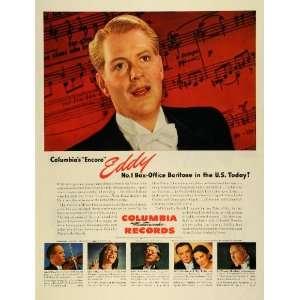 Record Singer Nelson Ackerman Eddy   Original Print Ad Home & Kitchen