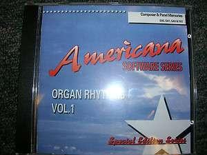 Technics Organ Software Americana Organ Rhythms Vol. 1