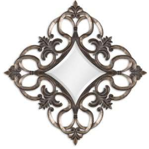 Salida Wall Mirror with Antiqued Leaf Frame