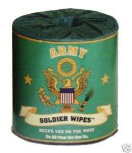 RETIREMENT GIFT TOILET PAPER ROLL GAG ARMY