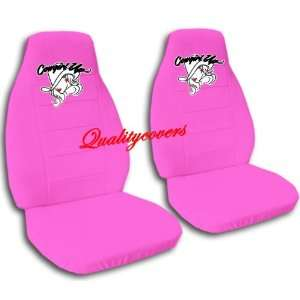 2 hot pink cowgirl car seat covers for a 2003 Mini Cooper