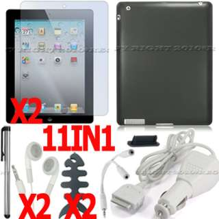 360° ROTATING LEATHER CASE SCREEN PROTECTOR FOR IPAD 2
