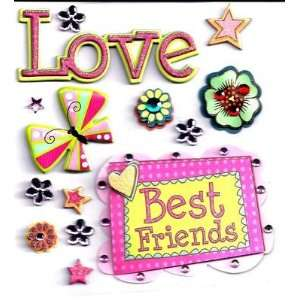 com FOREVER FRIENDS 14 Dimensional Stickers K&Company/Best Friends