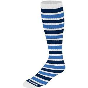 Diego Chargers Womens Striped Tube Socks Medium