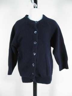 DESIGNER Baby Navy Blue Wool Cardigan Sweater 1T