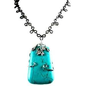 Designer Alex Carol Elegant Large Turquoise Stone with Natural Accent