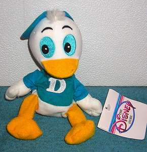 EXCLUSIVE DONALD DUCK NEPHEW DEWEY 7 PLUSH BEAN BAG TOY NEW