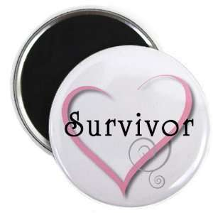 Creative Clam Breast Cancer Survivor Pink Ribbon Heart 2
