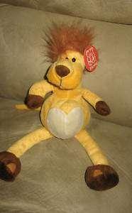 New 12 Whimsical Cute Jungle King Lion Bean Plush