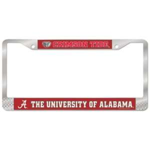 Alabama Crimson Tide License Plate Frame   Chrome  Sports