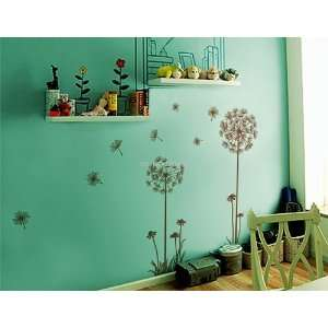 Dandelion DIY Home Décor PVC Wall Decal Stickers Brown 88