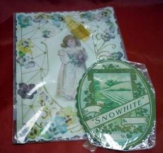 1920s Kindest Regards Victorian Greeting Card Embossed
