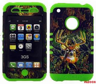 FOR IPHONE 3G S LIME GREEN HUNTER CAMO OAK DEER CASE COVER SKIN