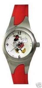 Disney by Seiko Ladies kids Minnie Mouse Red Band Watch