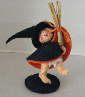 Collectible 1987 AnnaLee Halloween Petite Witch Doll