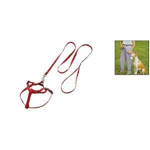 Como Red Pet Dog Nylon Pulling Harness and Leash Rope: Pet