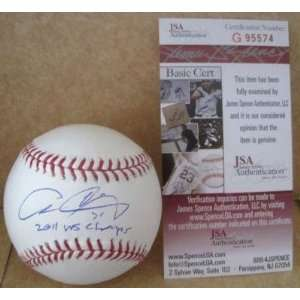Allen Craig Signed Baseball   Official M l W jsa