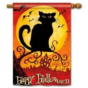 New Magnet Works Ltd. Black Cat Std Flag Double Sided 100%