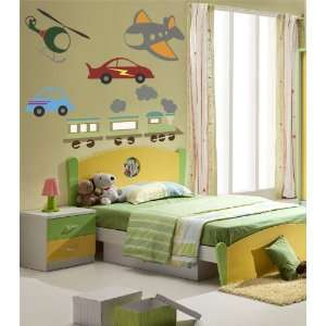 Kids Transportation Set Vinyl Wall Decals