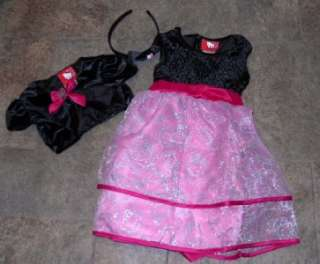 NWT Hello Kitty Party Fancy Dressy Dress Black 4 5 6