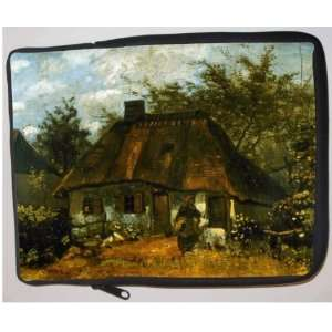 Van Gogh Art Cottage Laptop Sleeve   Note Book sleeve