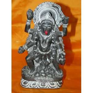 Supreme Maa Kali Statue Black Stone Sculpture India Hindu Goddess 8