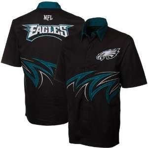 NFL Philadelphia Eagles Slasher Button Up Shirt   Black