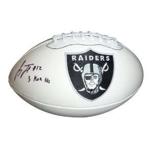Jacoby Ford Autographed Oakland Raiders Logo Footballs w